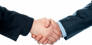 closing the deal with a handshake