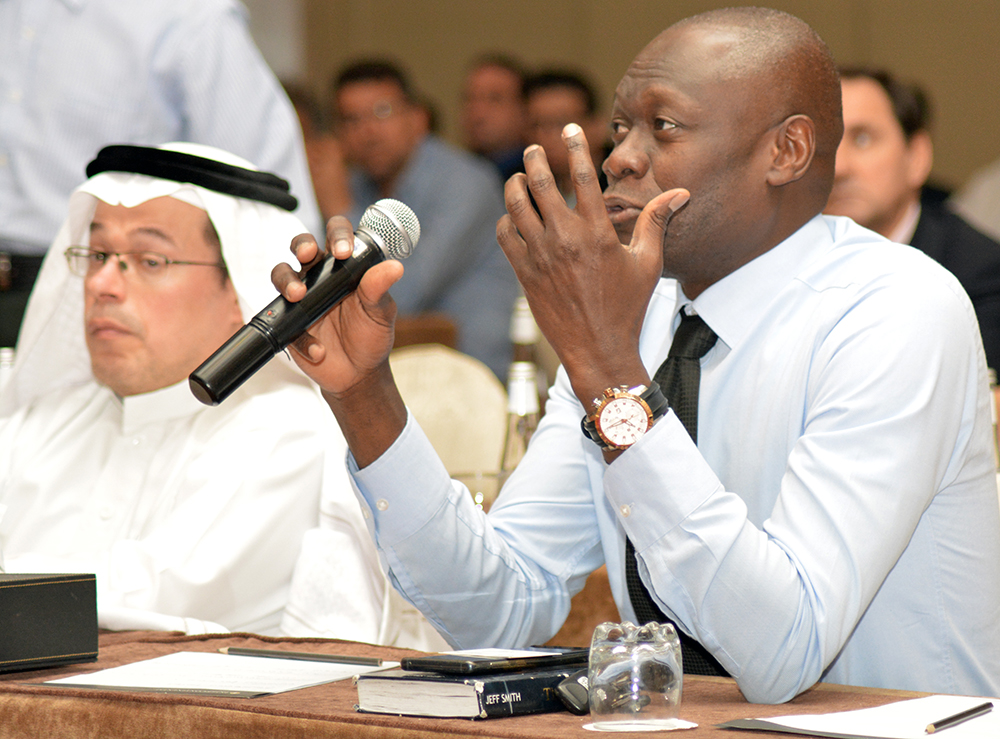 Questions form the audience in Jeddah